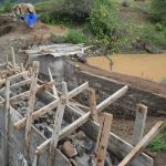 The Water Project: Mbiuni Community A -  Dam And Well Construction Progress