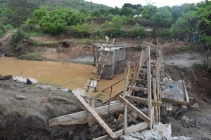 The Water Project:  View Of Well And Dam During Construction