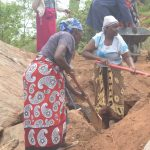 The Water Project: Kathuli Community -  Digging At Construction Site