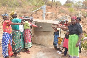 The Water Project:  Pointing To The New Well