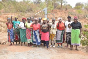 The Water Project:  Shg Members Celebrate Their New Well