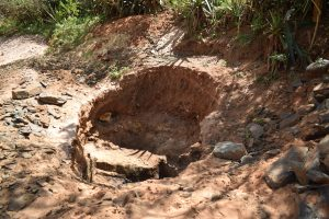 The Water Project:  Digging Out Hole For Well