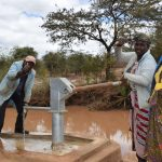 The Water Project: Kala Community C -  Thumbs Up For Complete Well