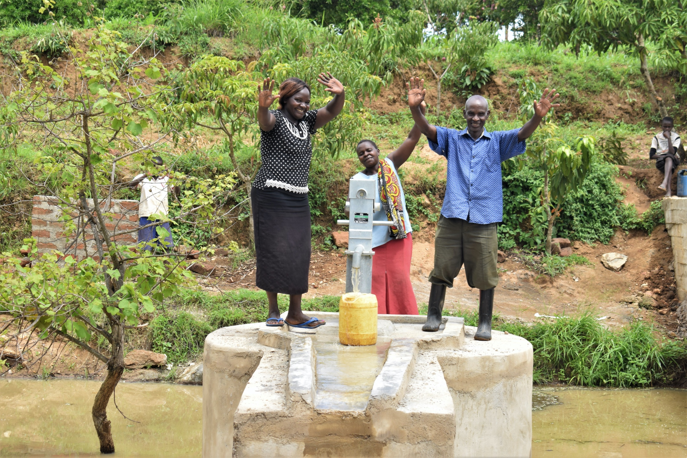 The Water Project : kenya19228-celebrating-the-new-well