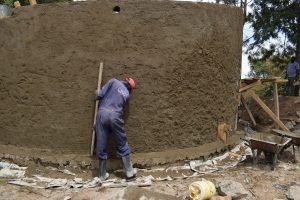 The Water Project:  Cement Work On The Tank Wall