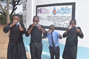 The Water Project:  Drinking Water From The Tank