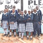 The Water Project: Katalwa Secondary School -  Students At The Tank