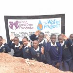 The Water Project: Katalwa Secondary School -  Students Celebrate At The Tank
