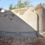 The Water Project: Katalwa Secondary School -  Tank Cement Dries