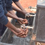 The Water Project: Katalwa Secondary School -  Using The New Handwashing Station