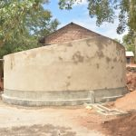 The Water Project: Kwa Kyelu Primary School -  Tank Cement Work Complete