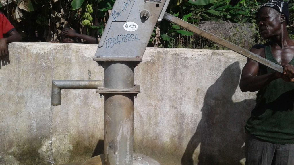 The Water Project : sierraleone18269-pumping-well-a-year-later