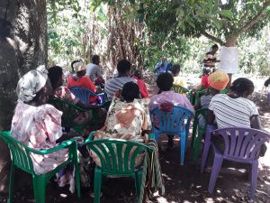 The Water Project:  Shg Members Listen During The Training