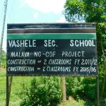 The Water Project: Friends School Vashele Secondary -  School Signpost