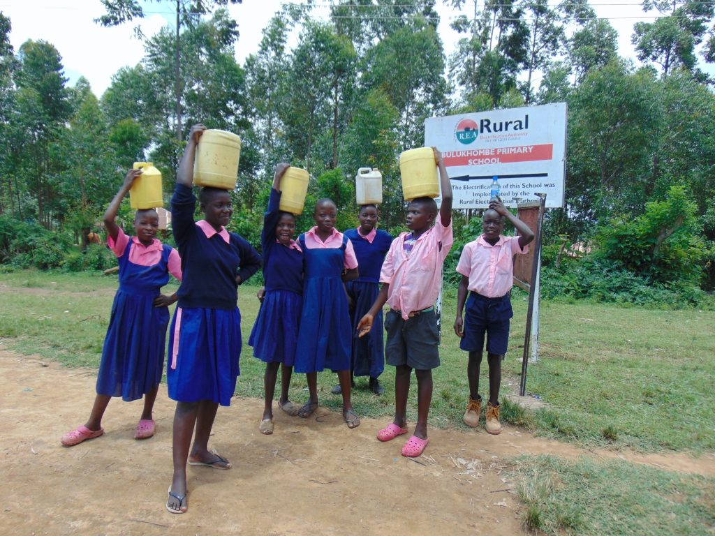 The Water Project : 0-kenya20123-students-carrying-water-to-school