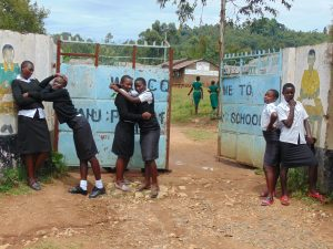 The Water Project:  Students Pose At The School Gate
