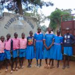 The Water Project: Gidimo Primary School -  Students At The Gate