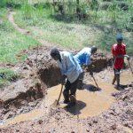 The Water Project: Bumavi Community, Joseph Njajula Spring -  Excavation Begins