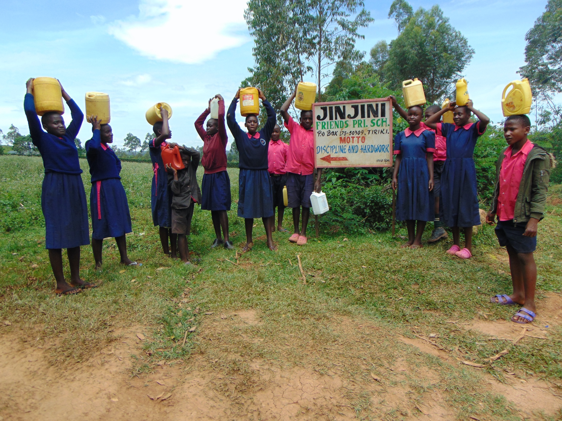 The Water Project : 1-kenya20126-students-carrying-water-to-school-5
