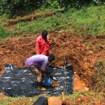The Water Project: Shisere Community, Richard Okanga Spring -  Laying The Foundation