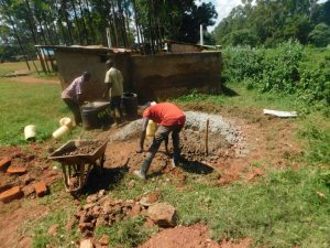 The Water Project:  Preparing Construction Materials
