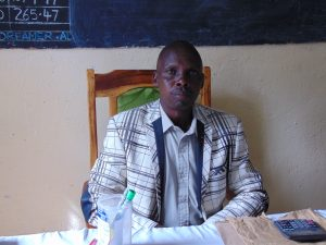 The Water Project:  Head Teacher Mr Samoei Kibet