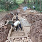The Water Project: Bumavi Community, Joseph Njajula Spring -  Stair Construction And Cement Work