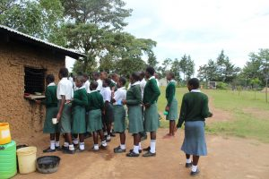 The Water Project:  Students Queueing For Their Lunch
