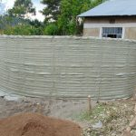 The Water Project: Gimariani Secondary School -  Outer Form Of Rain Tank Walls