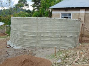 The Water Project:  Outer Form Of Rain Tank Walls