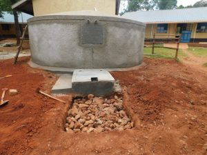 The Water Project:  Soak Pit Construction Outside Tap Area