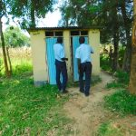 The Water Project: Friends School Vashele Secondary -  Boys Wait At The Latrines