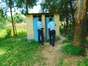 The Water Project:  Boys Wait At The Latrines
