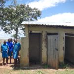 The Water Project: St. Michael Mukongolo Primary School -  Boys At Their Latrines