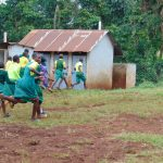 The Water Project: Gamalenga Primary School -  Students Run To Their Latrines