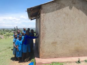 The Water Project:  Girls Line Up At Their Latrines