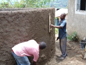 The Water Project:  Rain Tank Wall Cementing Continues