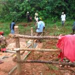 The Water Project: Shisere Community, Richard Okanga Spring -  Building The Fence