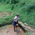 The Water Project: Bulukhombe Primary School -  Drinking Water At The Spring