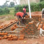 The Water Project: Friends School Mutaho Primary -  Latrine Brickwork
