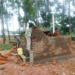 The Water Project: Friends School Mutaho Primary -  Latrine Walls Going Up
