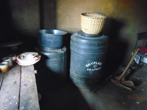 The Water Project:  Water Storage Drums At School
