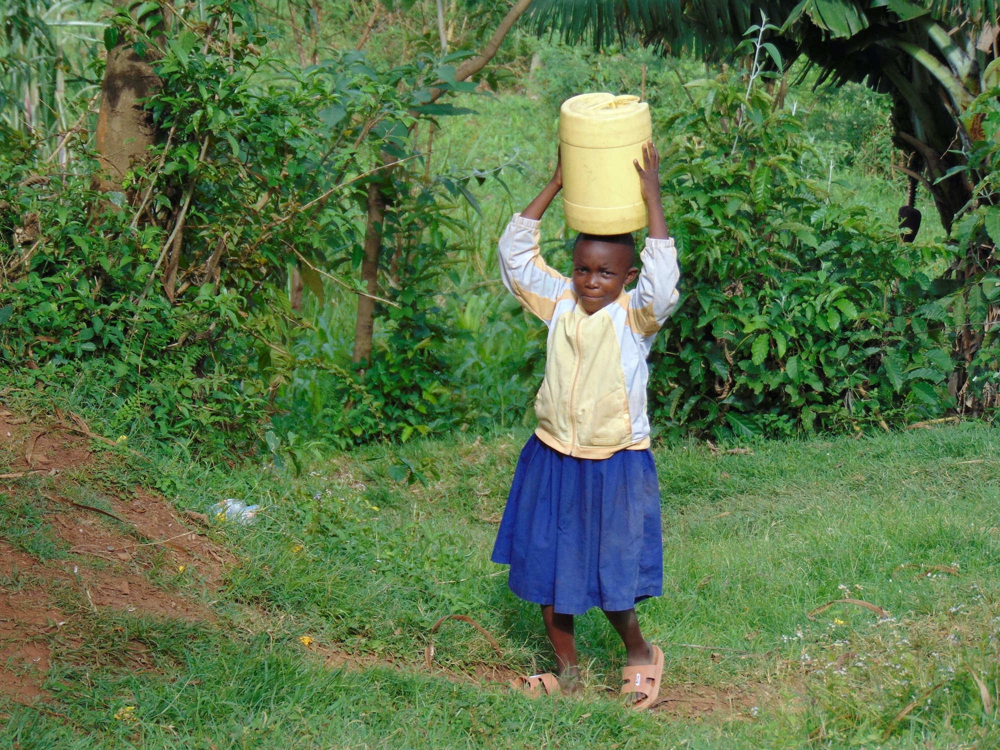 The Water Project : 2-kenya20119-student-carrying-water