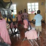 The Water Project: Mukoko Baptist Primary School -  Students Washing Their Class