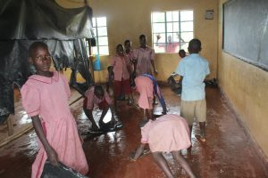 The Water Project:  Students Washing Their Class