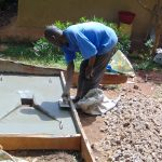 The Water Project: Ebutindi Community, Tondolo Spring -  Sanitation Platform Construction