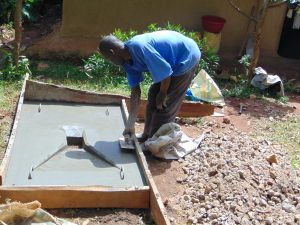 The Water Project:  Sanitation Platform Construction