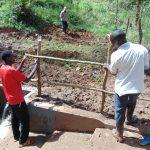 The Water Project: Bumavi Community, Joseph Njajula Spring -  Building The Fence