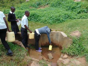 The Water Project:  Students Fetching Water At The Spring