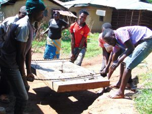 The Water Project:  Community Members Help Install The Platform